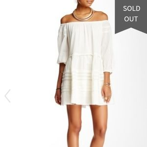 Free People White Candy Shop Off the Shoulder Dres